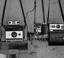 Old cameras in Athens market by bennoarts
