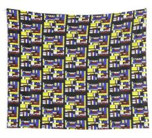 Incompleted rectangular floor plan 1 Wall Tapestry