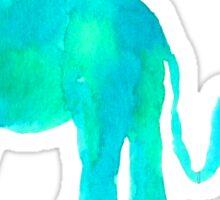 Momma Elephant, Baby Elephant Sticker