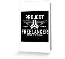 Red vs. Blue  - Project Freelancer Greeting Card