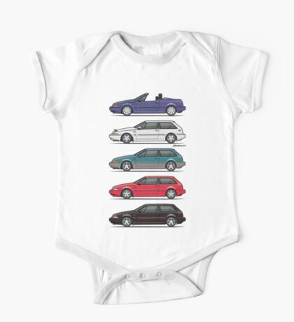 Stack of Volvo 480 One Piece - Short Sleeve