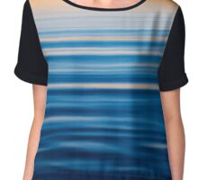 Blue Reflections Chiffon Top
