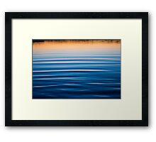 Blue Reflections Framed Print