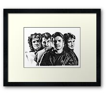 The Many Faces of Nathan Fillion Framed Print