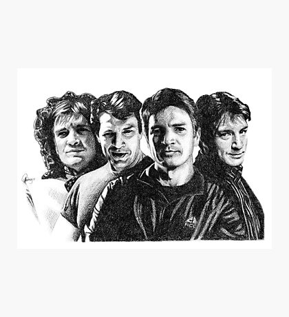 The Many Faces of Nathan Fillion Photographic Print