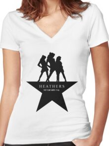 Heather, Heather, & Heather Women's Fitted V-Neck T-Shirt