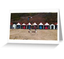 Geometric Beach Huts Greeting Card