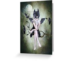 Bat Girl - Moonlighting Greeting Card