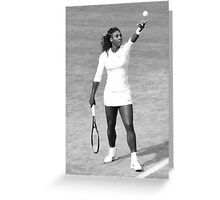 Serena Willams - Wimbledon 2014 Greeting Card