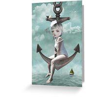 Sailor Girl - Raise The Anchor Greeting Card