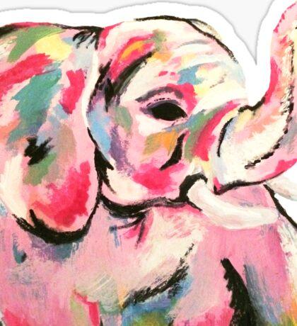 Elephant Painting Sticker