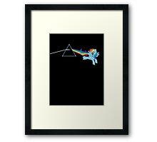 Rainbow Dash: Dark side of the moon (Brony) Framed Print