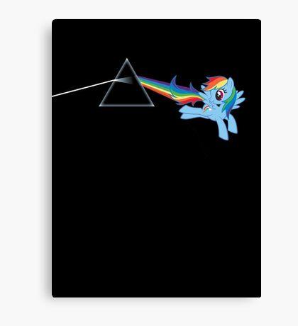 Rainbow Dash: Dark side of the moon (Brony) Canvas Print