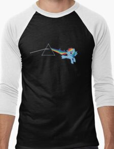 Rainbow Dash: Dark side of the moon (Brony) Men's Baseball ¾ T-Shirt
