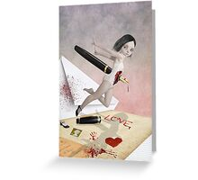 Poison Pen Pal - Written In Blood Greeting Card