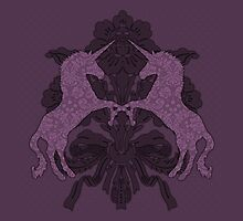 Fancy Aubergine Unicorns by Mivaldi