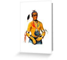 Hoo-Wan-Ne-Ka of The Winnebago Greeting Card