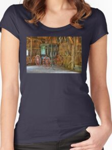 Wagon lost in storage Women's Fitted Scoop T-Shirt