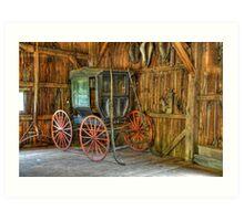 Wagon lost in storage Art Print
