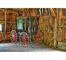 Wagon lost in storage Photographic Print