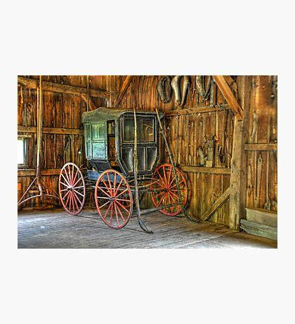 Wagon lost in storage Photographic Print