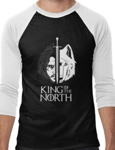 White Wolf Snow King of The North Men's Baseball ¾ T-Shirt