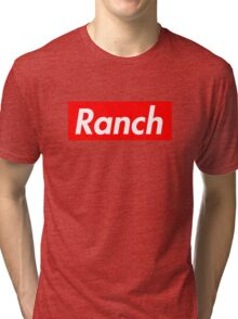 Ranch - Red - Eric Andre - Supreme font Tri-blend T-Shirt