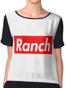 Ranch - Red - Eric Andre - Supreme font Chiffon Top