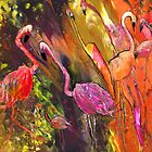 Flamingoes Wild by Goodaboom