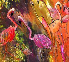 Flamingoes Wild by Goodaboom