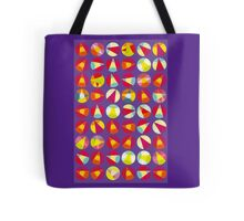 vivid abstract circle pattern - vivid colors Tote Bag