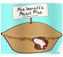 Mrs Lovett's Meat Pies Poster