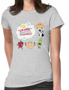 """""""Crying"""" Breakfast Friends! // Steven Universe Womens Fitted T-Shirt"""