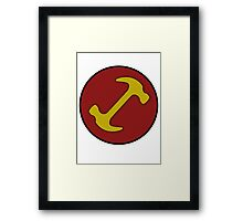 Stonecutters symbol Framed Print