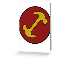Stonecutters symbol Greeting Card