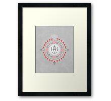 Religious symbols composition Framed Print