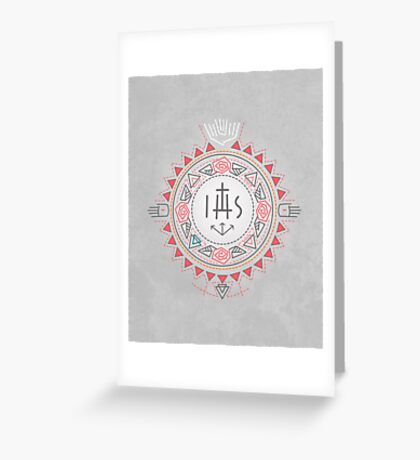 Religious symbols composition Greeting Card