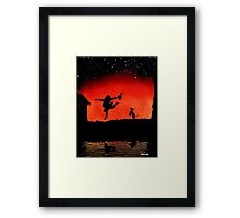 dance like theres no one around Framed Print
