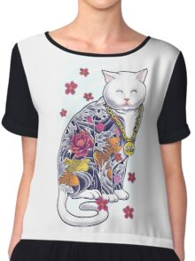Mob Cat  Chiffon Top
