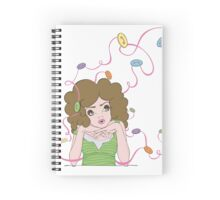 Charm Buttons Spiral Notebook