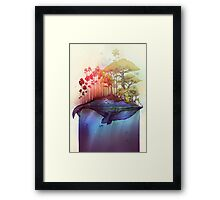 LAND AND SEA tshirt Framed Print