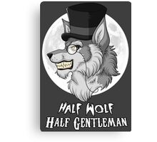 Half-Wolf Half-Gentleman Canvas Print