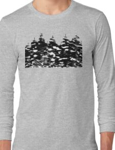 Pines Laden with Snow  Long Sleeve T-Shirt
