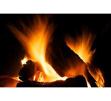 Winter fire Photographic Print