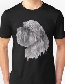 Brussels Griffon Dog Portrait Drawing Unisex T-Shirt