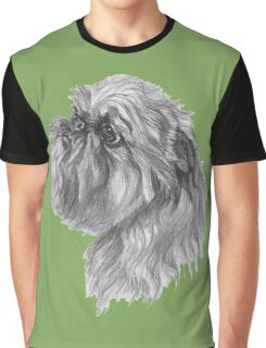 Brussels Griffon Dog Portrait Drawing Graphic T-Shirt