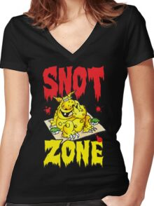 Snot Zone! Women's Fitted V-Neck T-Shirt
