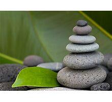 Stone cairn Photographic Print