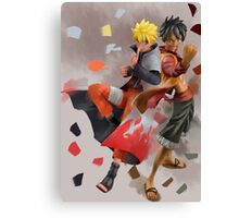 Naruto and Luffy Canvas Print