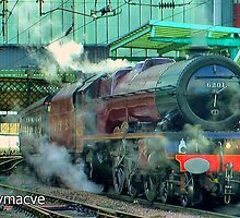 London Midland & Scottish Railway 6201 'Princess Elizabeth' at Carlisle by Rorymacve